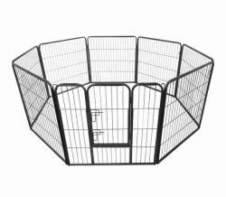 Heavy Duty Pet Playpen MPP-01L Hammered Silver