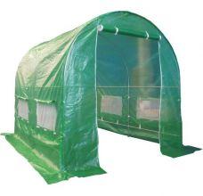 BIRCHTREE 3M (L) x 2M (W) x 2M (H) Polytunnel Greenhouse Pollytunnel Galvanised Frame