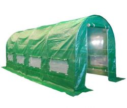 BIRCHTREE 5M (L) x 2M (W) x 2M (H) Polytunnel Greenhouse Pollytunnel Galvanised Frame