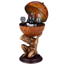 WestWood Globe Shaped Mini Bar 420MM Brown