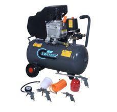 SwitZer 2HP Air Compressor 24L AC009 Grey