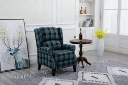WestWood Fabric Armchair FA01 Blue Check