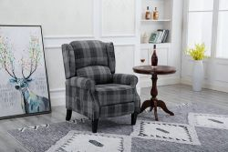 WestWood Fabric Armchair FA01 Grey Check
