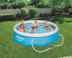 BestWay Fast Set Swimming Pool Set Round Inflatable 10ft x 30inch BW57270