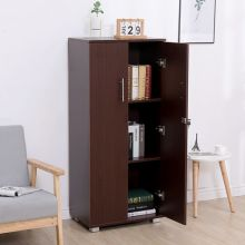 WestWood Office Cupboard 3 Shelf OC01 Dark Walnut
