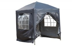 BIRCHTREE Pop Up Gazebo 2X2M Grey