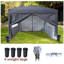 BIRCHTREE Pop Up Gazebo 3X3M Grey