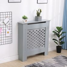 WestWood MDF Radiator Cover Cross Small Grey
