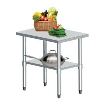 WestWood Stainless Steel Catering Table 2FT X 3FT