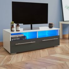 WestWood High Gloss LED TV Cabinet TVC04 Grey