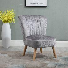 WestWood Crush Velvet Accent Chair 1300 Grey