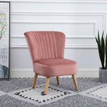 WestWood Velvet Accent Chair 1300 Pink