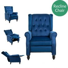 WestWood Recliner Chair Velvet RC01 Blue