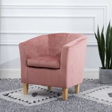 WestWood Crush Velvet Tub Chair TC12 Pink