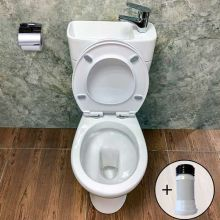 WestWood 2IN1 Toilet With Basin & Pipe TBS02 White