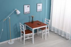 WestWood Dining Table With 2 Chair Wood DS09 Honey