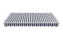 BIRCHTREE Awning Fabric Top Cover 3.5x 2.5m AC04 Blue & White