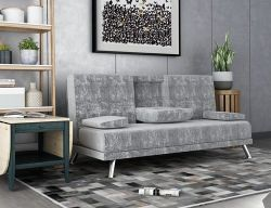 WestWood Fabric Manhattan Sofa Bed Velvet Grey