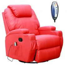 WestWood Massage Leather Sofa Electric 01 Red