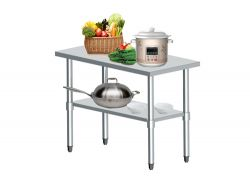 WestWood Stainless Steel Catering Table 2FT X 4FT
