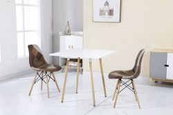 WestWood Patchwork Chair PC001 1 Pair Brown