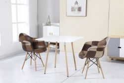 WestWood Patchwork Chair PC002 1 Pair Brown