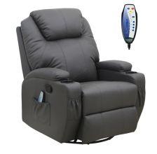 WestWood Massage Leather Sofa Electric 01 Grey