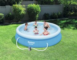BestWay Fast Set Swimming Pool Set Round Inflatable 12ft x 30inch BW57274