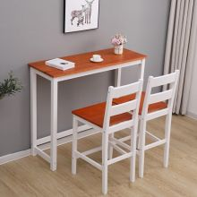 WestWood Bar Table and 2 Stools Set WW-BTS02 White and Honey