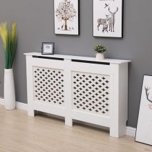 WestWood MDF Radiator Cover Cross Medium White