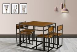 WestWood Dining Table and 4 Chairs Set WW-DS15 Walnut