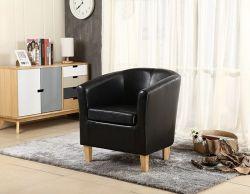WestWood Faux Leather Tub Armchair Black