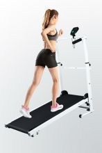 FIT4YOU Folding Manual Treadmill FH-MT05 Black and White