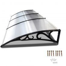 BIRCHTREE Door Canopy Black Frame 270cm x 100cm