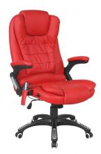 WestWood Leather 6 Point Massage Office Chair Red