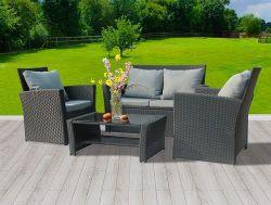 BIRCHTREE Rattan Furniture Set RFS02 Black
