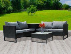 BIRCHTREE Rattan Furniture Set RFS03 Black