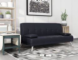 WestWood Chunky Sofa Bed Black