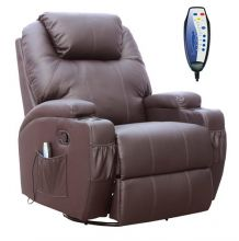 WestWood Massage Leather Sofa Electric 01 Brown