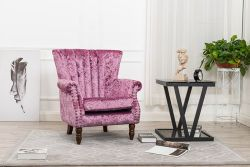 WestWood Crush Velvet Armchair 8003 Pink