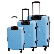 "WestWood 20/24/28"" Suitcase Trolley Set WW-STS01 Blue"