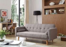 WestWood Fabric Sofa Bed Grey FSB04