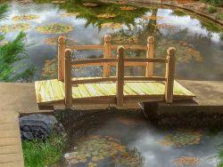 BIRCHTREE Garden Wooden Bridge With Low Rail