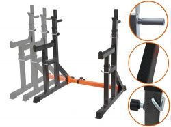 FIT4YOU Adjustable Squat Rack FY-SQ01 Hammered Silver
