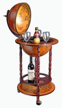 WestWood Globe Bar Drinks Cabinet Wine Trolley Stand 330MM