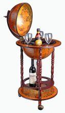 WestWood Globe Bar Drinks Cabinet Wine Trolley Stand 330MM