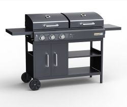 HEATSURE BBQ 3 Burner Gas Charcoal Combo Grill G9003CT Black