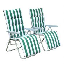 BIRCHTREE Sun Recliner With Cushion SR01 Green