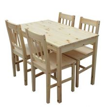 WestWood Dining Table With 4 Chair Wood FH-DS02 Pine