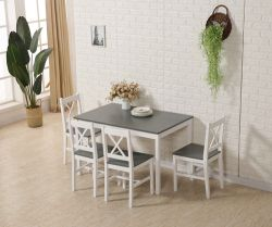 WestWood Dining Table With 4 Chair Wood DS03 Grey